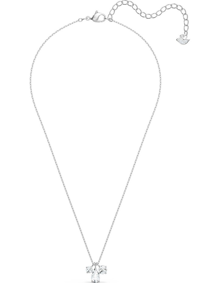 Attract Cluster Pendant - White - Rhodium Plated image 2