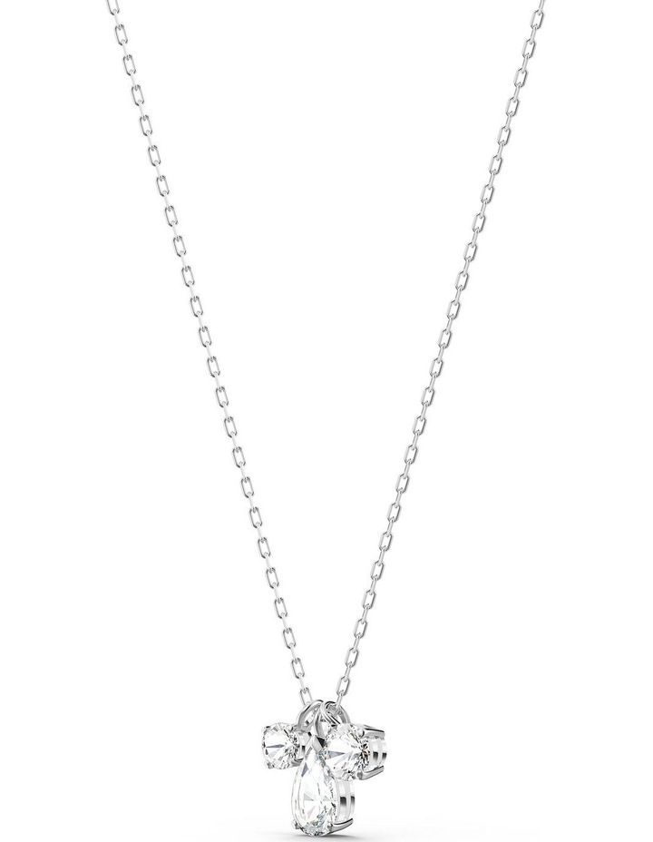 Attract Cluster Pendant - White - Rhodium Plated image 3