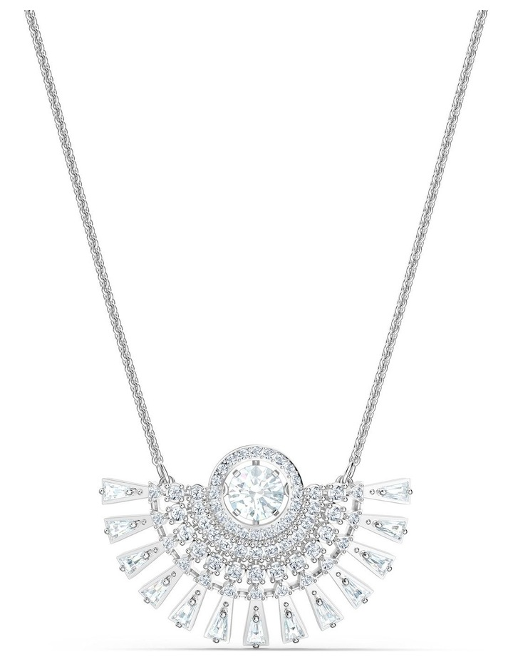 Sparkling Dance Dial Up Necklace - Medium - White - Rhodium Plated image 1