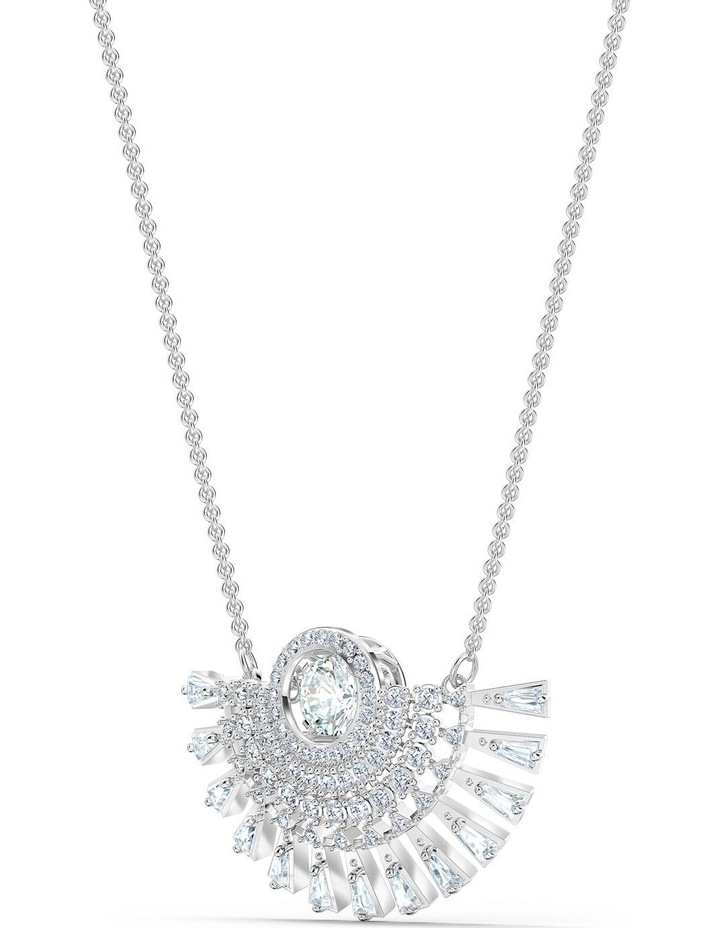 Sparkling Dance Dial Up Necklace - Medium - White - Rhodium Plated image 3