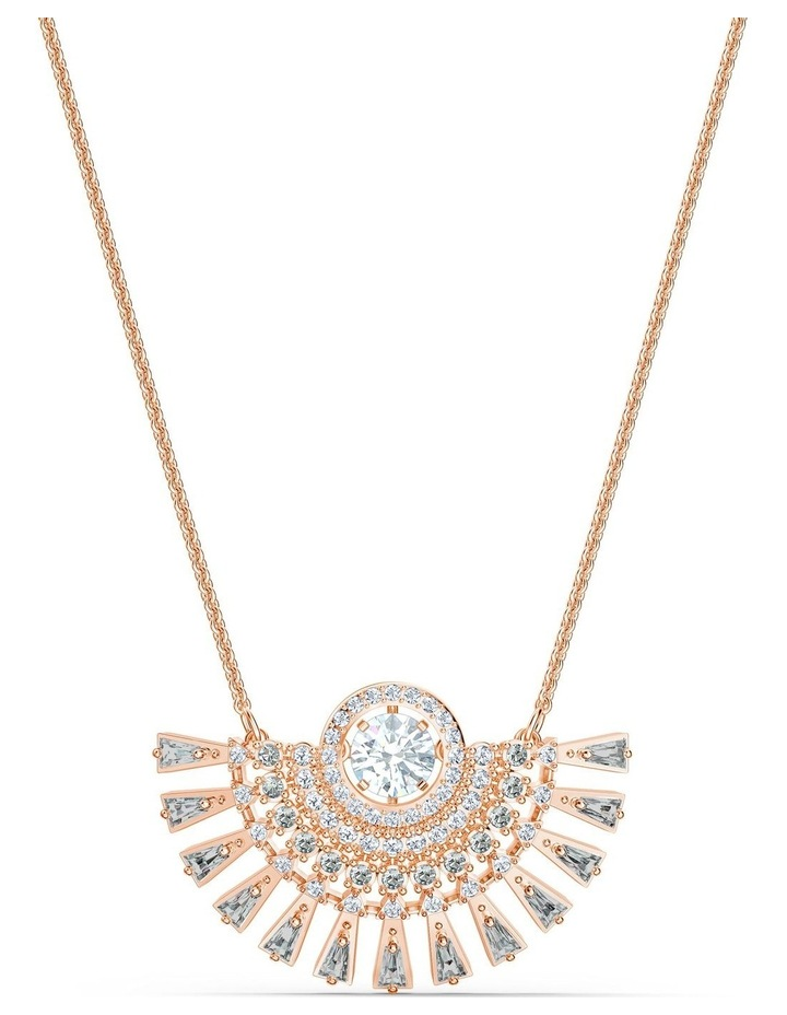 Sparkling Dance Dial Up Necklace - Medium - Gray - Rose-gold Tone Plated image 1