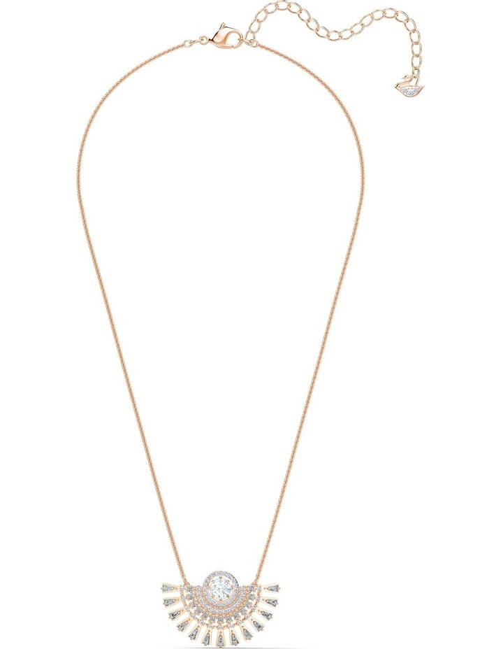 Sparkling Dance Dial Up Necklace - Medium - Gray - Rose-gold Tone Plated image 2