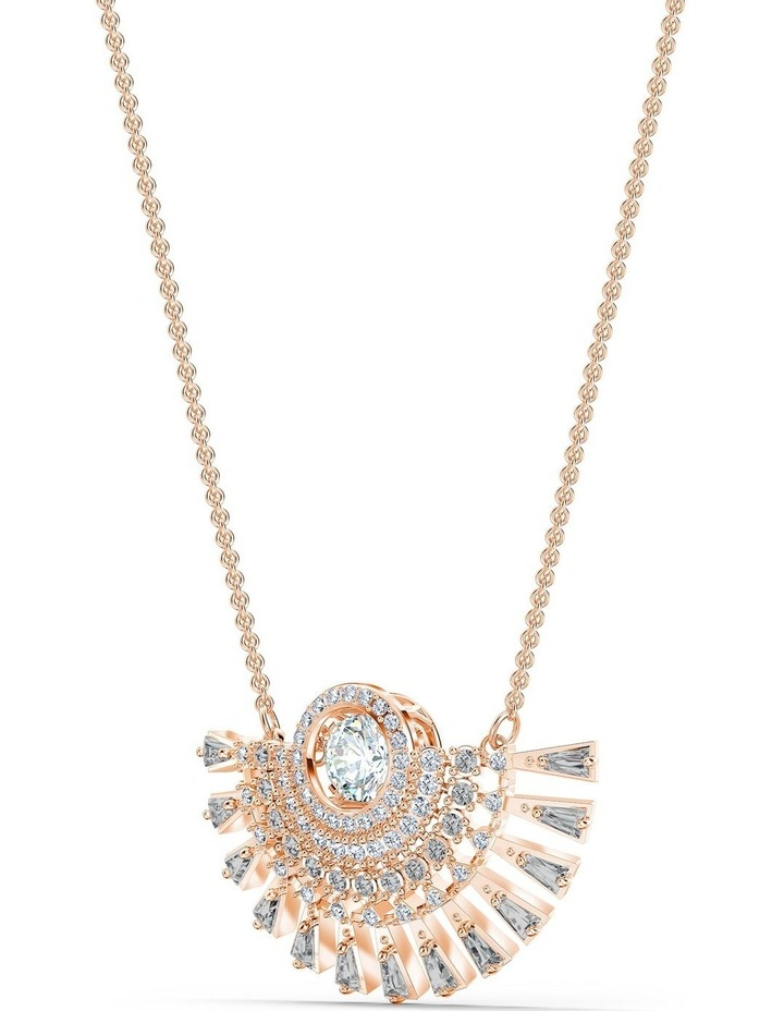 Sparkling Dance Dial Up Necklace - Medium - Gray - Rose-gold Tone Plated image 3
