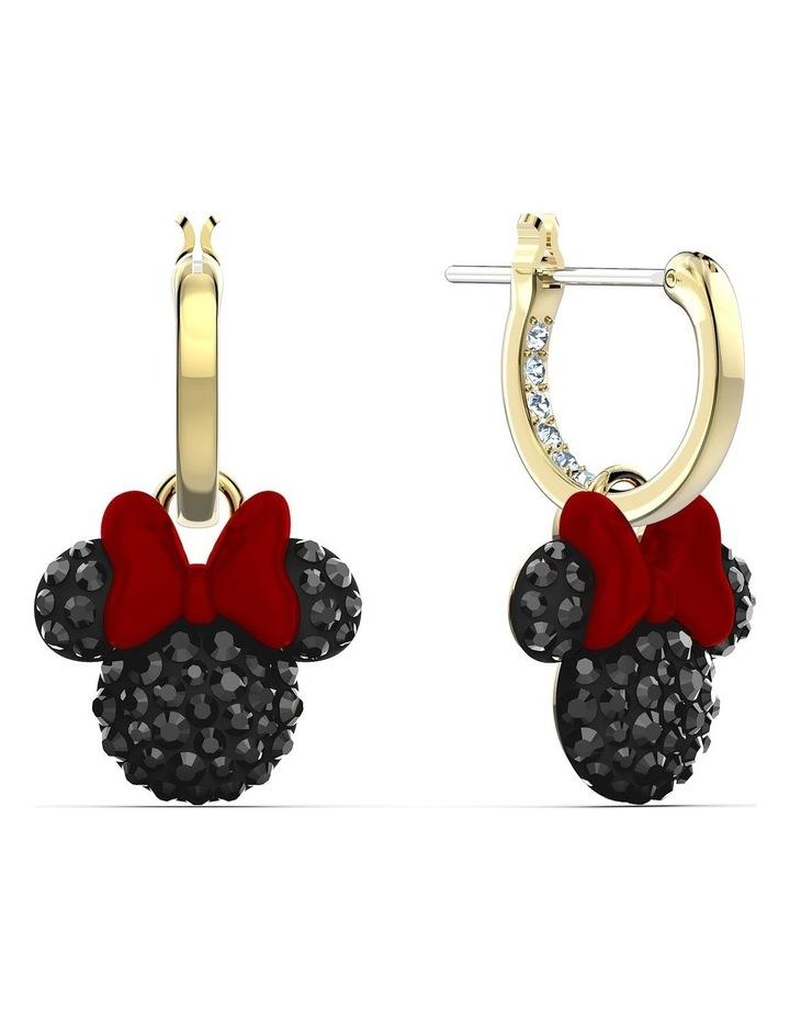Minnie Hoop Pierced Earrings - Black - Gold-tone Plated image 2