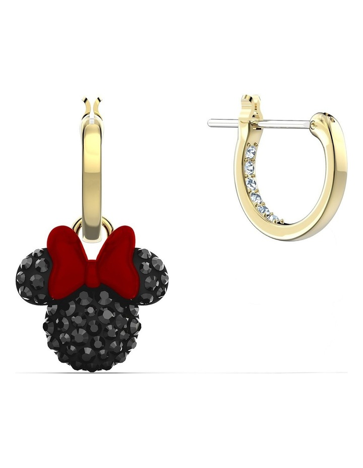 Minnie Hoop Pierced Earrings - Black - Gold-tone Plated image 3