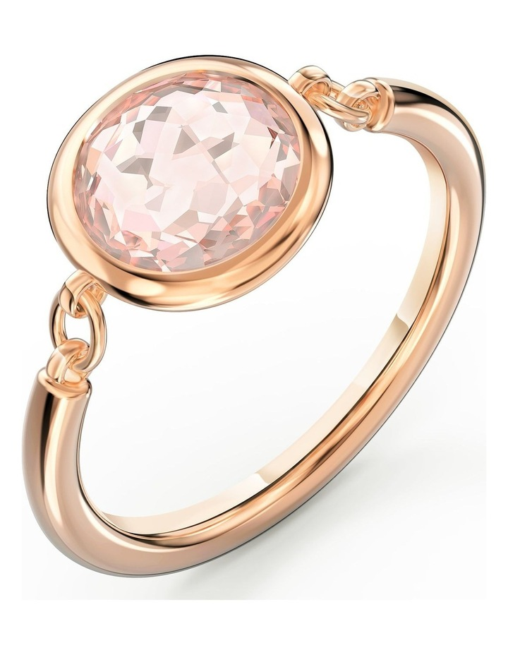 Tahlia Ring - Pink - Rose-gold Tone Plated 55mm image 3