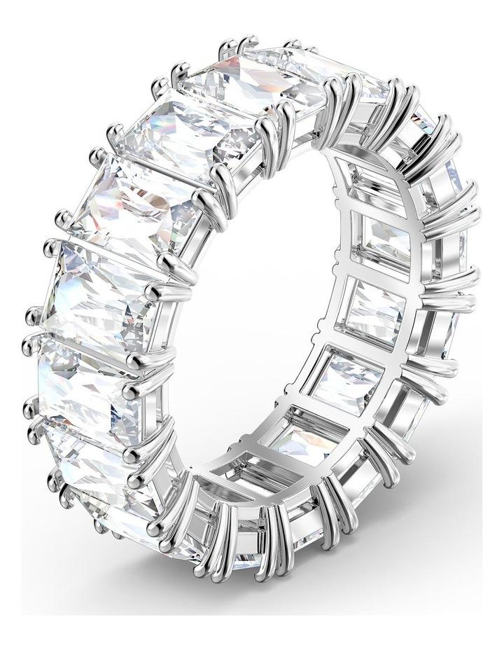 Vittore Wide Ring - White - Rhodium Plated 55mm image 3