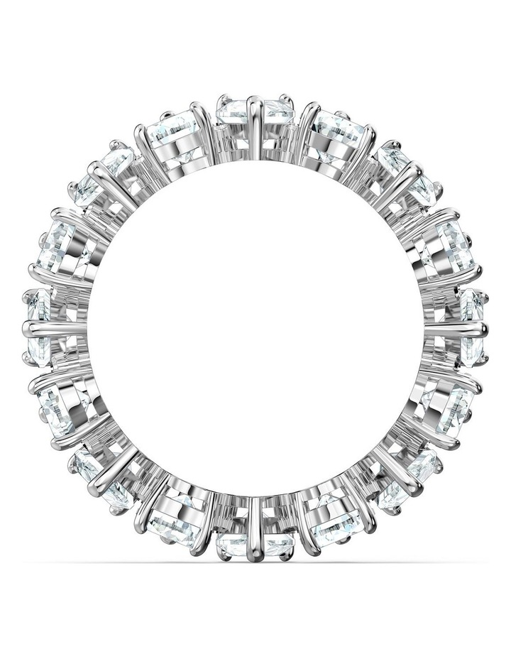 Vittore Pear Ring - White - Rhodium Plated 55mm image 2