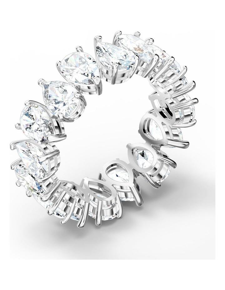 Vittore Pear Ring - White - Rhodium Plated 55mm image 3
