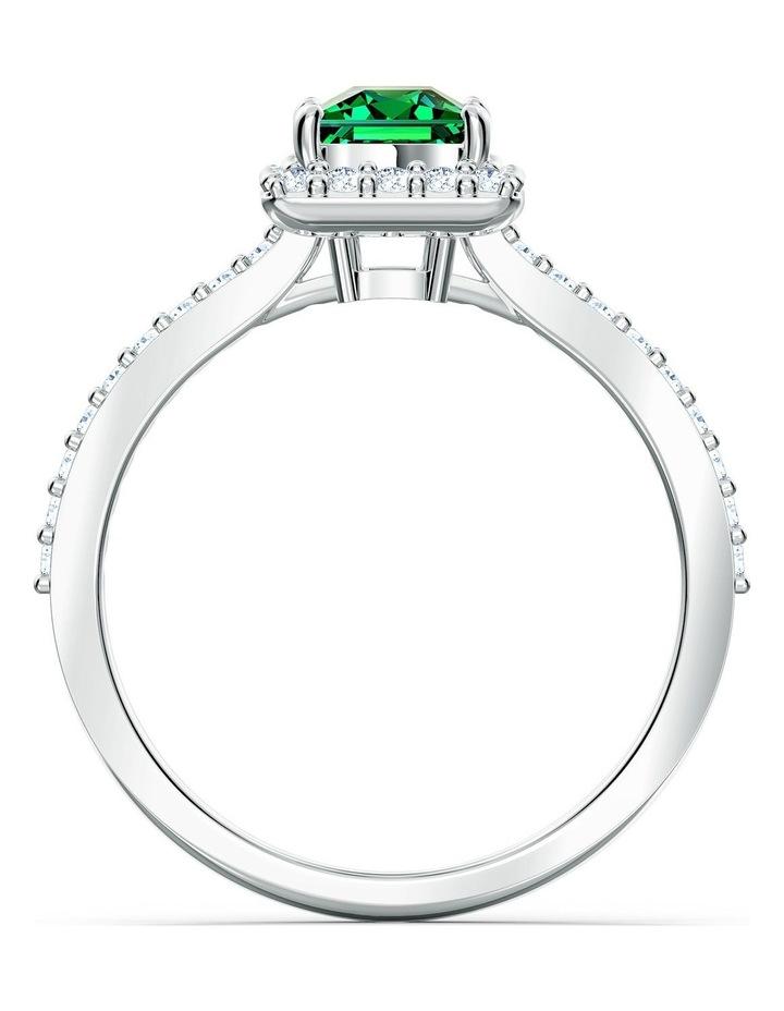 Angelic Rectangular Ring - Green - Rhodium Plated 58mm image 2