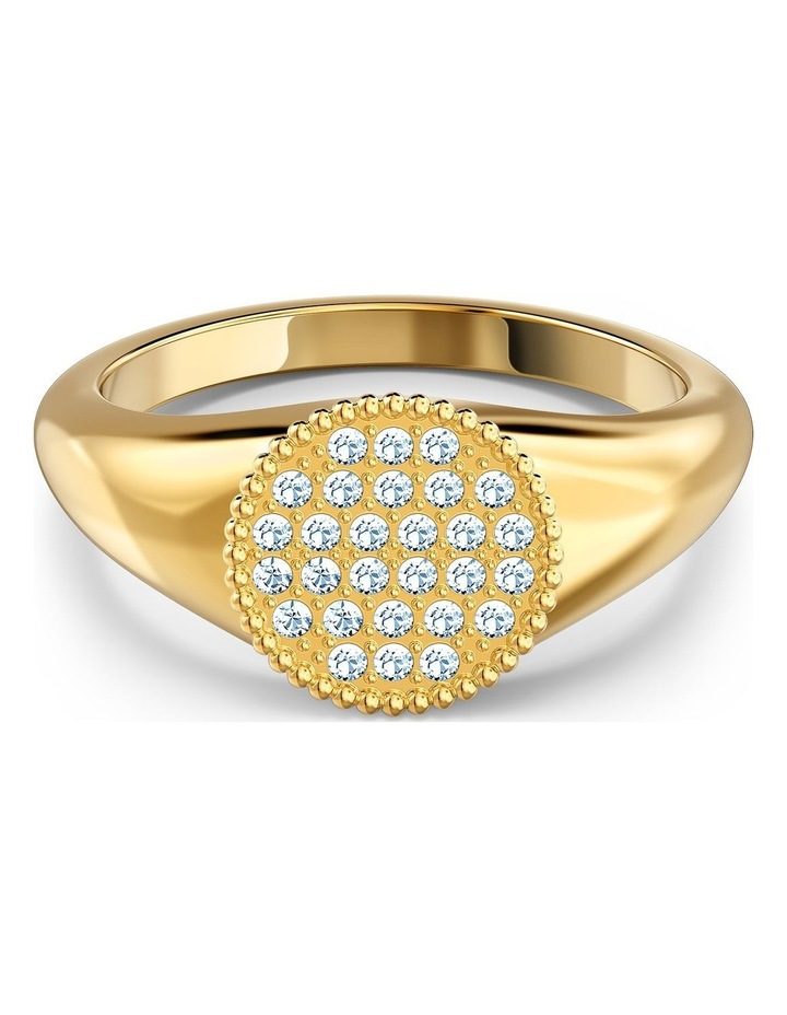 Ginger Signet Ring - White - Gold-tone Plated 58mm image 1