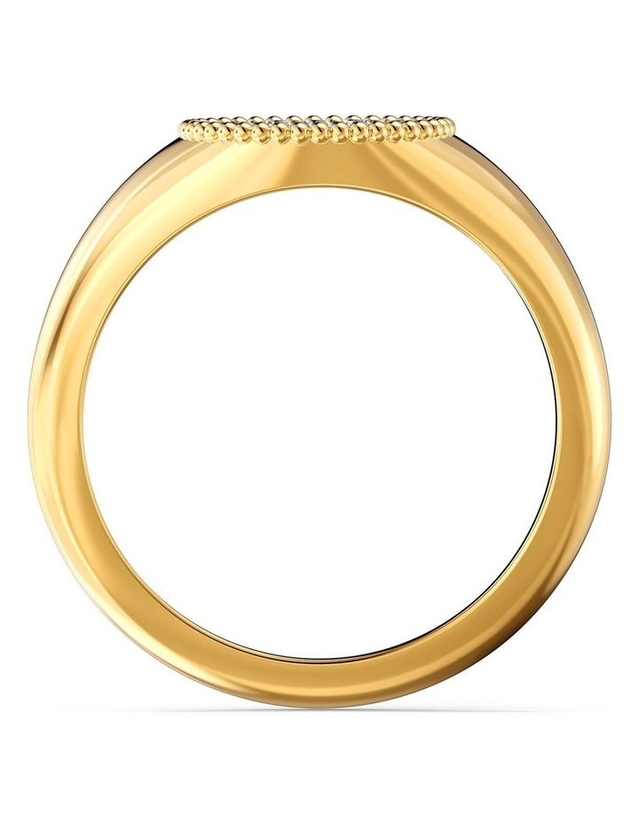 Ginger Signet Ring - White - Gold-tone Plated 58mm image 2