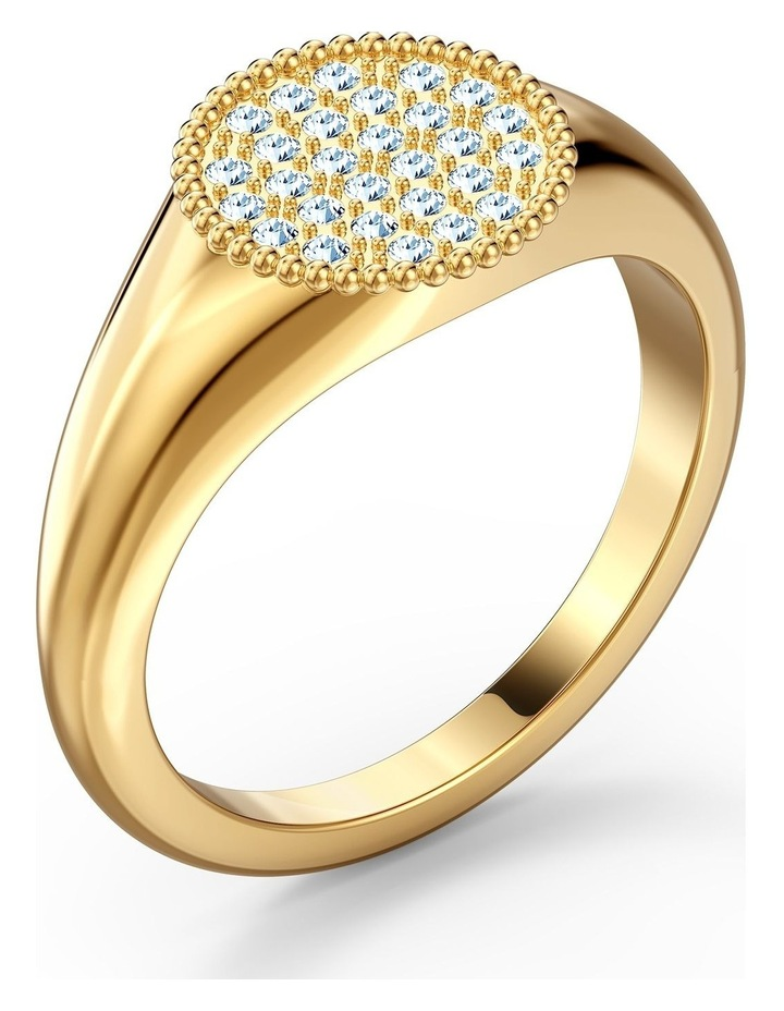 Ginger Signet Ring - White - Gold-tone Plated 58mm image 3