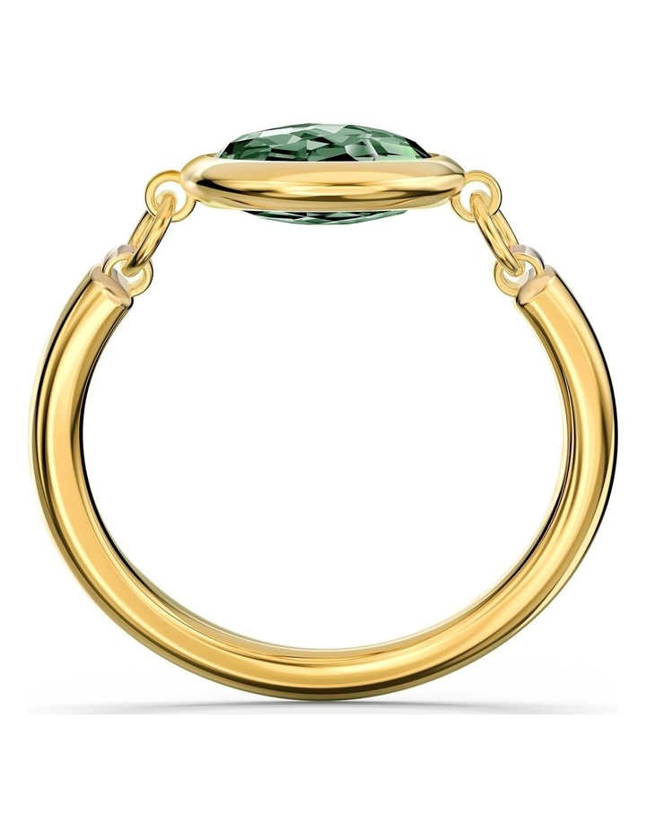 Tahlia Ring - Green - Gold-tone Plated 60mm image 2