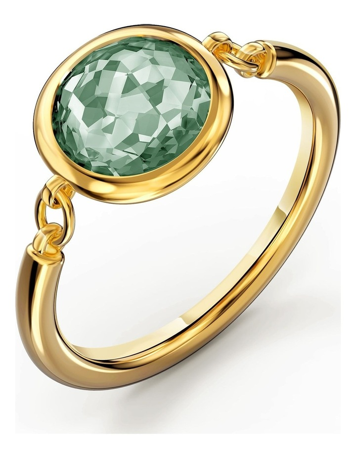 Tahlia Ring - Green - Gold-tone Plated 60mm image 3