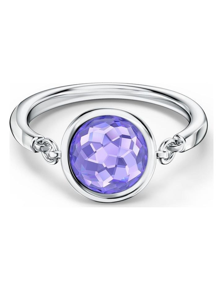 Tahlia Ring - Purple - Rhodium Plated 52mm image 1