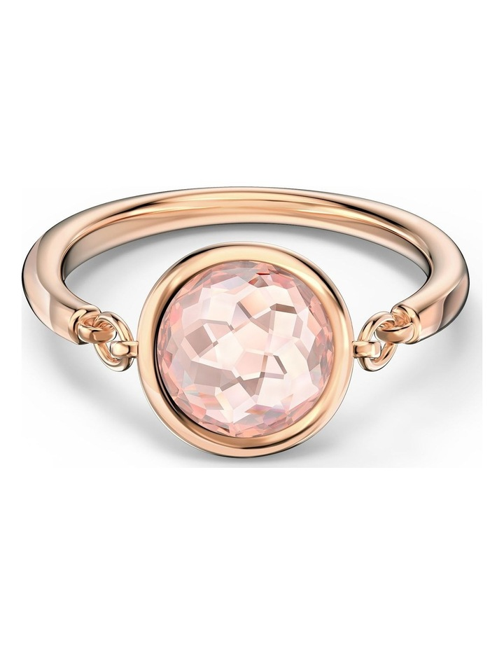 Tahlia Ring - Pink - Rose-gold Tone Plated 52mm image 1