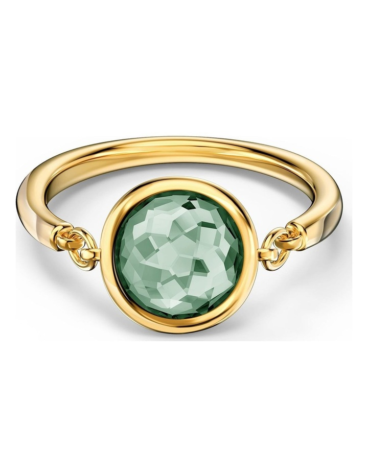Tahlia Ring - Green - Gold-tone Plated 52mm image 1
