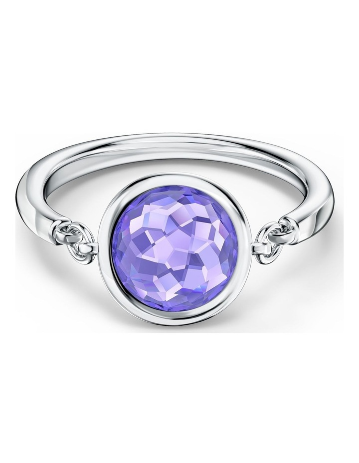 Tahlia Ring - Purple - Rhodium Plated 60mm image 1