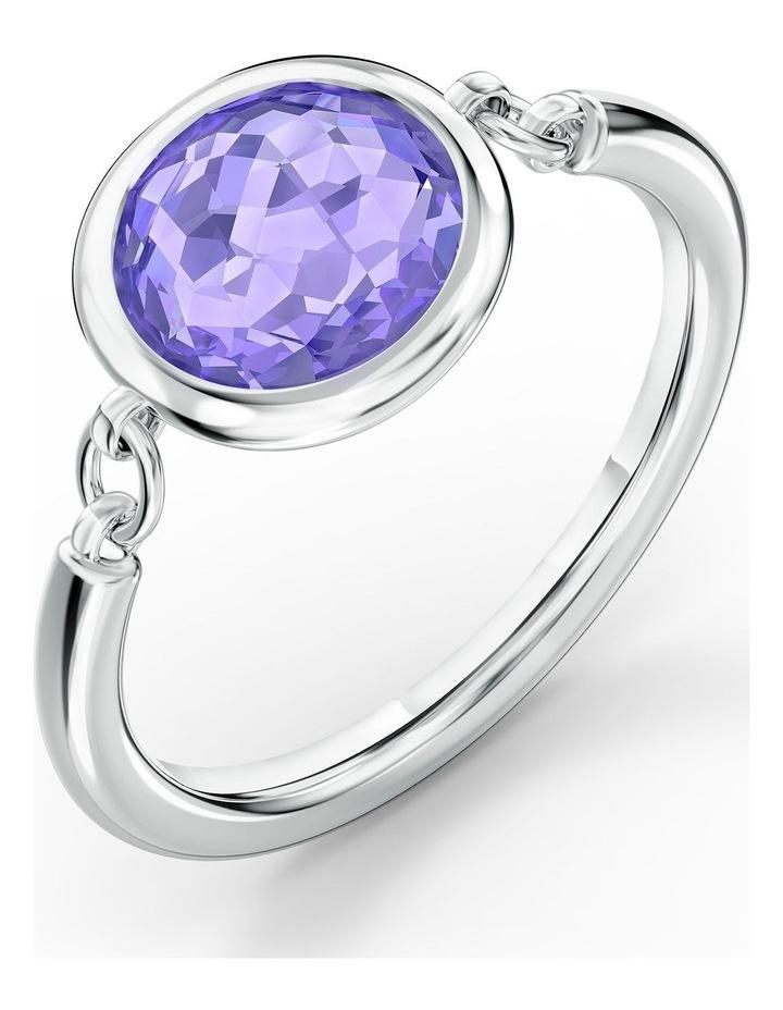 Tahlia Ring - Purple - Rhodium Plated 60mm image 3