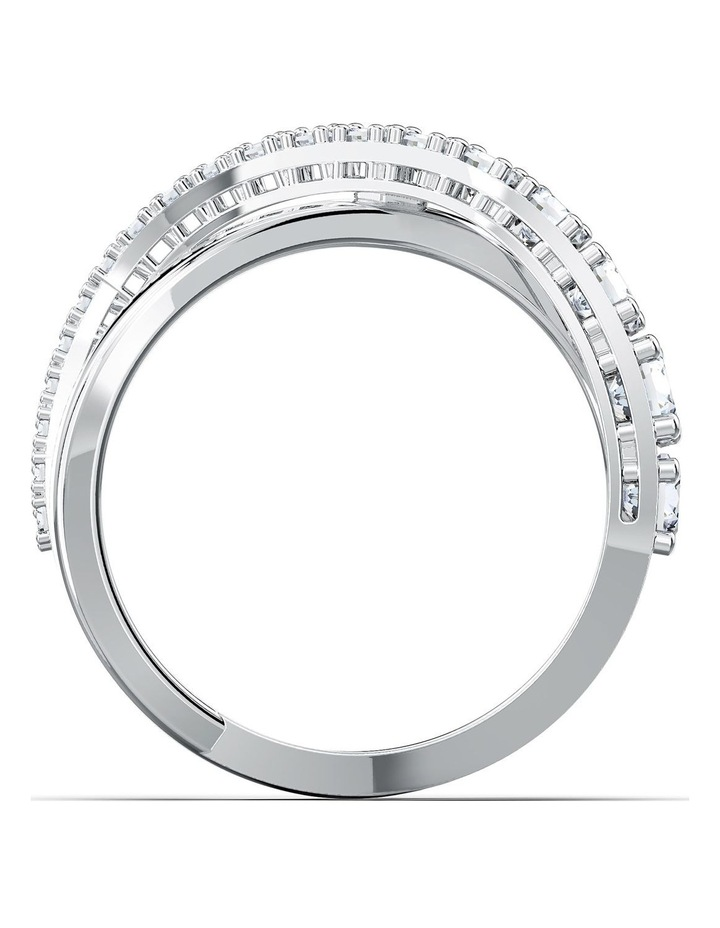 Twist Rows Ring - White - Rhodium Plated 52mm image 2