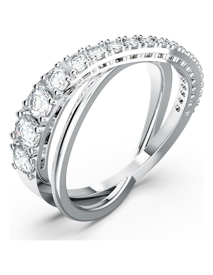 Twist Rows Ring - White - Rhodium Plated 52mm image 3