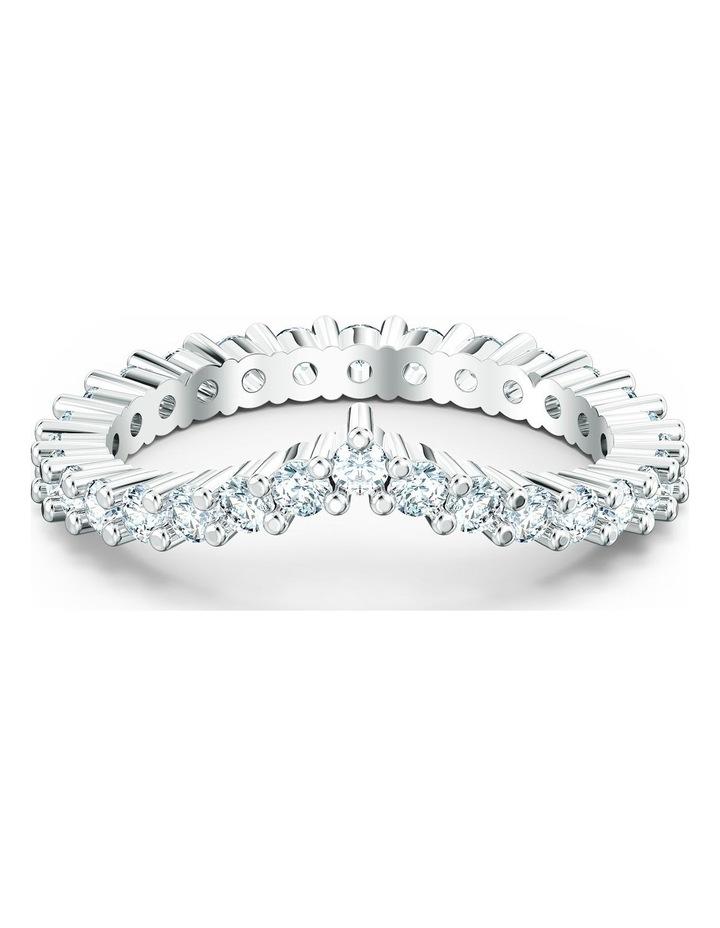 Vittore V Ring - White - Rhodium Plated 60mm image 1