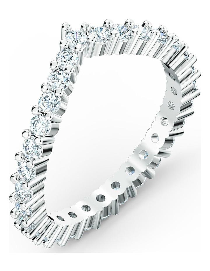 Vittore V Ring - White - Rhodium Plated 60mm image 3