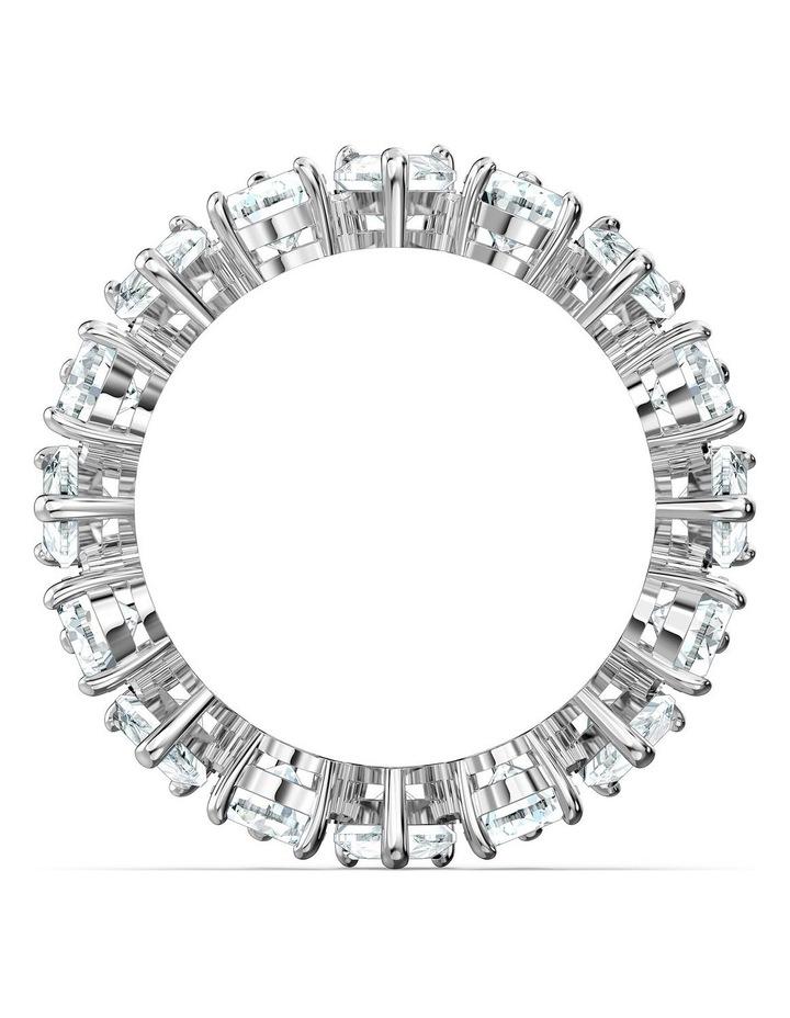 Vittore Pear Ring - White - Rhodium Plated 52mm image 2