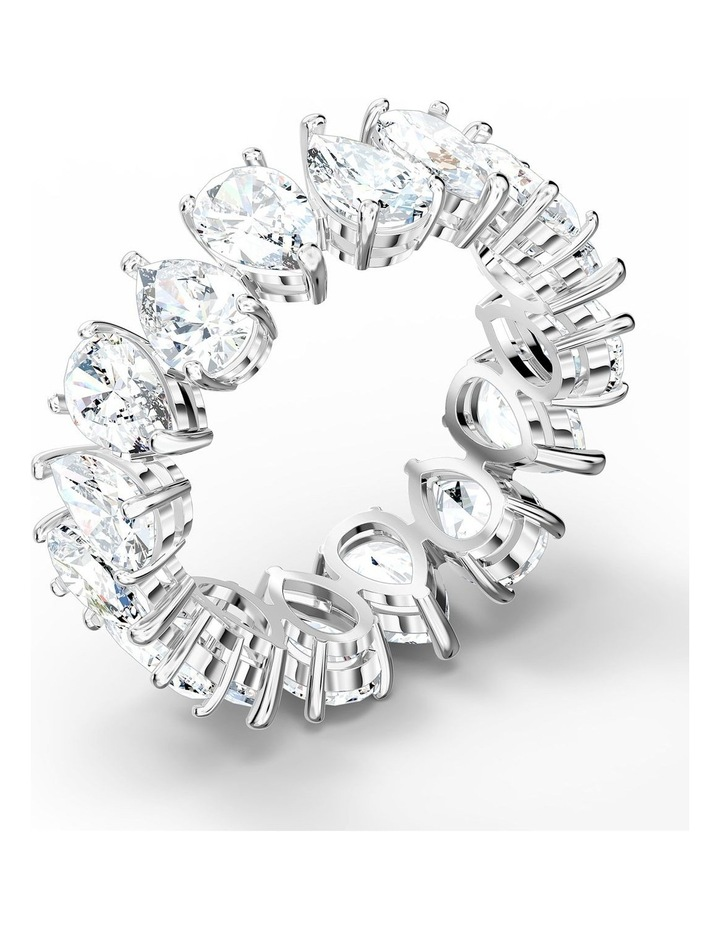 Vittore Pear Ring - White - Rhodium Plated 52mm image 3