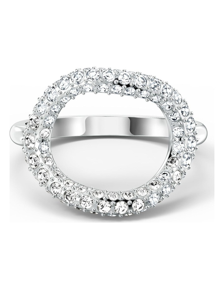 The Elements Air Ring - White - Rhodium Plated 60mm image 1