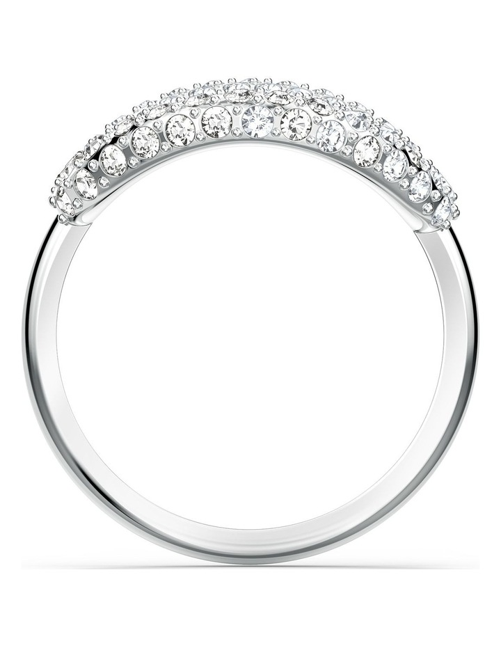 The Elements Air Ring - White - Rhodium Plated 60mm image 2