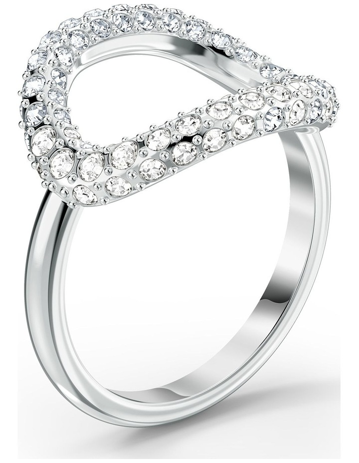 The Elements Air Ring - White - Rhodium Plated 60mm image 3