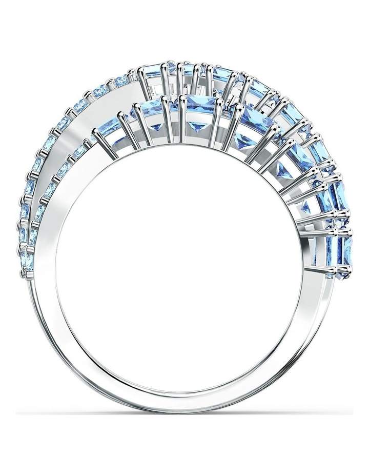 Twist Wrap Ring - Blue - Rhodium Plated 52mm image 2