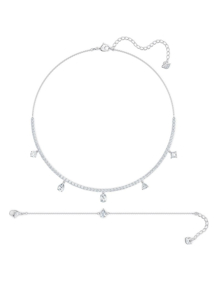 Tennis Deluxe Mixed Set - White - Rhodium Plated image 1