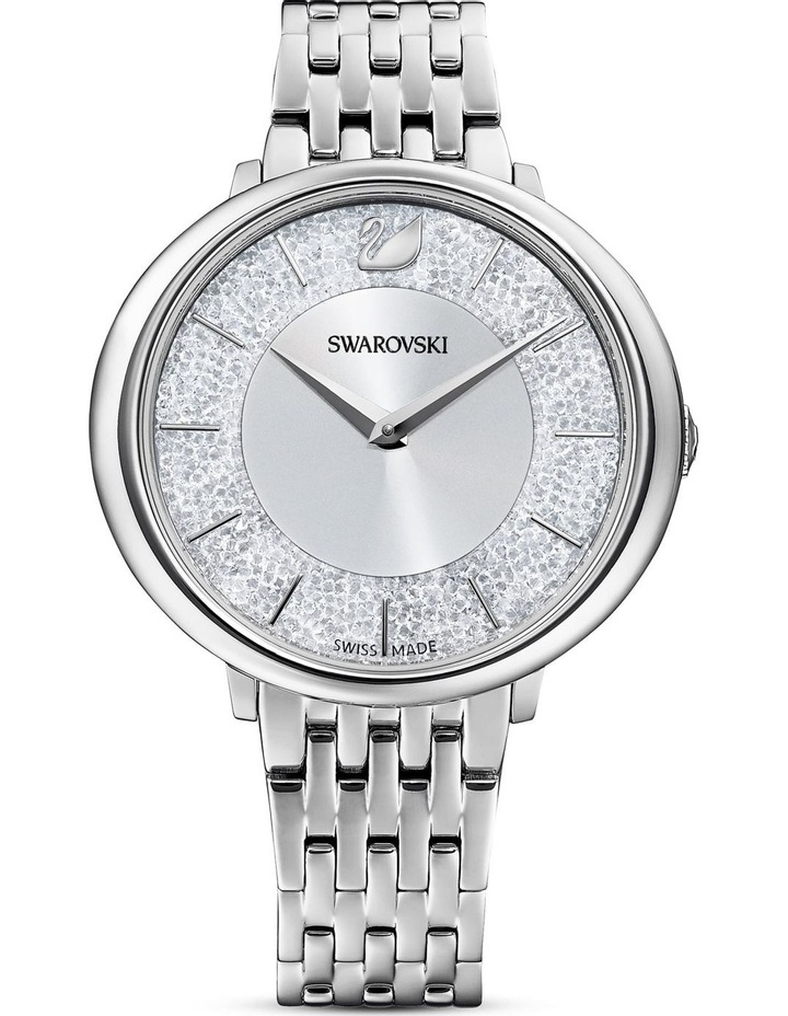 Crystalline Chic Silver Stainless Steel Analog Watch image 1
