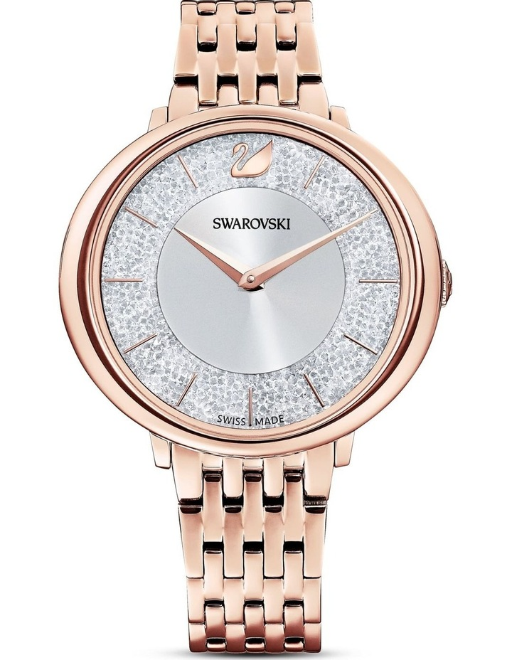 Crystalline Chic Rose Gold Stainless Steel Luxury Watch image 1