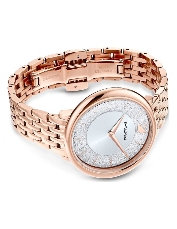 Crystalline Chic Rose Gold Stainless Steel Luxury Watch image 3