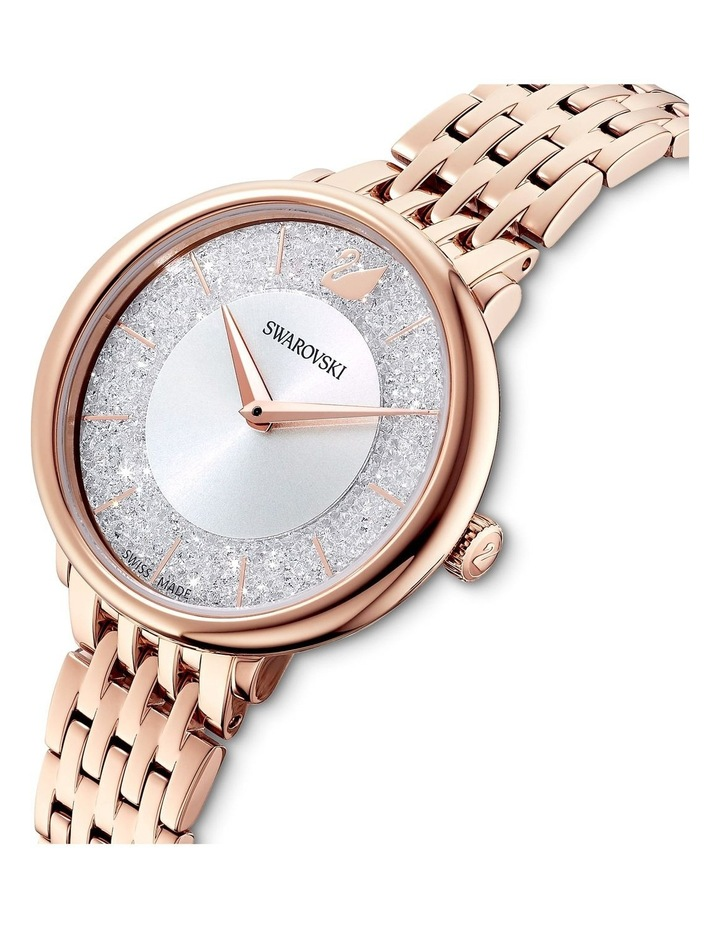 Crystalline Chic Rose Gold Stainless Steel Luxury Watch image 4