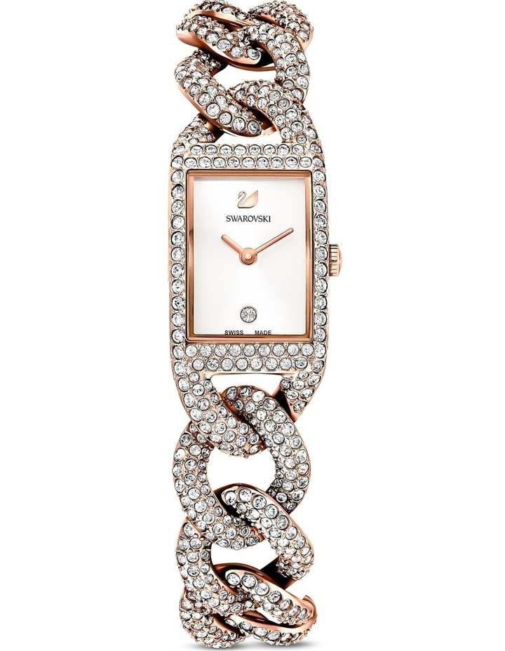 Cocktail Watch - Metal Bracelet - White - Rose-gold Tone Pvd image 1
