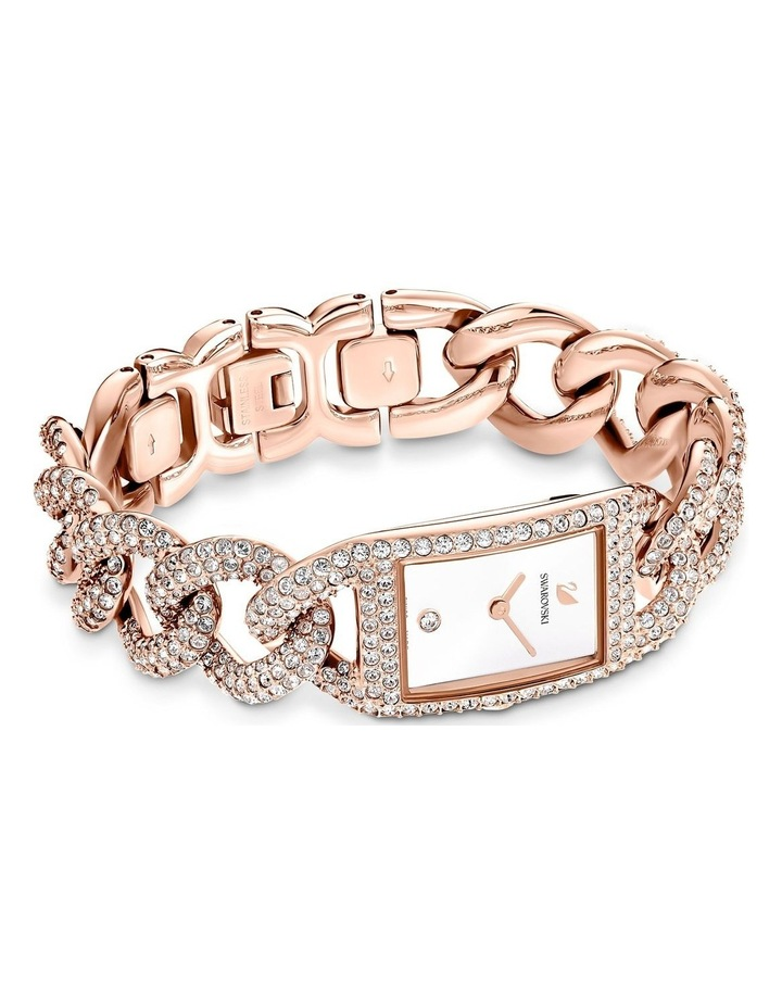 Cocktail Watch - Metal Bracelet - White - Rose-gold Tone Pvd image 3