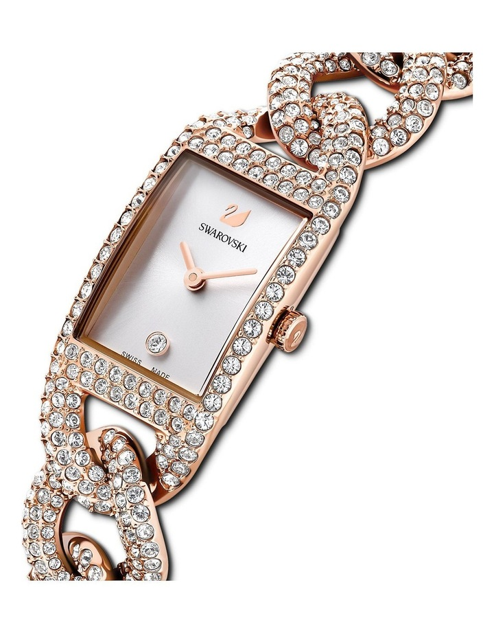 Cocktail Watch - Metal Bracelet - White - Rose-gold Tone Pvd image 4