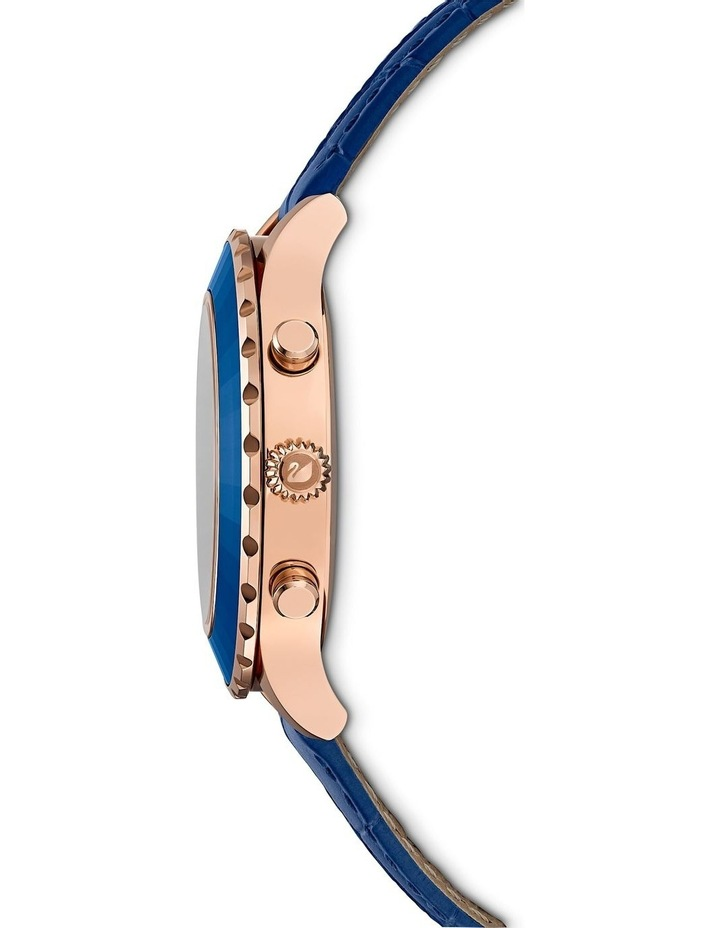 Octea Lux Chrono Watch - Leather Strap - Blue - Rose-gold Tone Pvd image 2