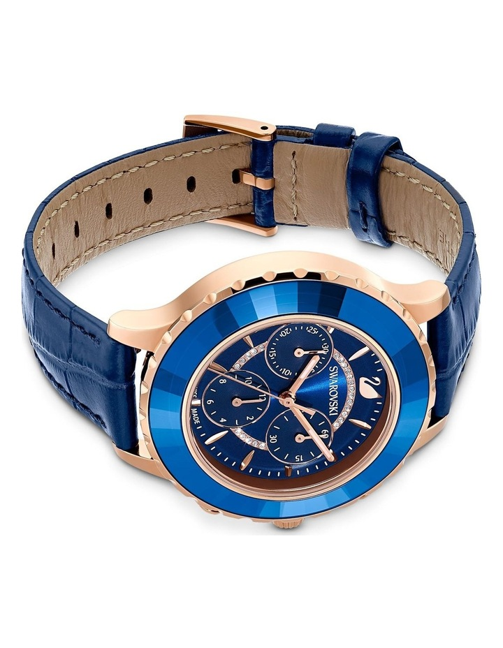 Octea Lux Chrono Watch - Leather Strap - Blue - Rose-gold Tone Pvd image 3