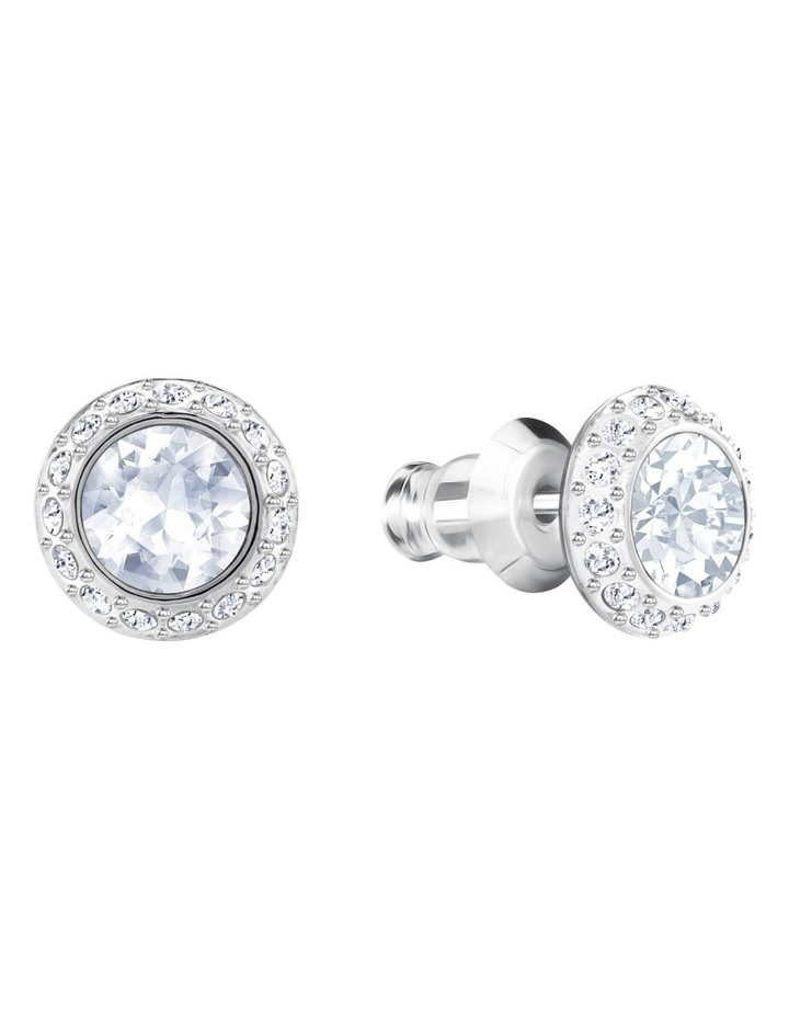 Angelic Pierced Earrings - White - Rhodium Plated image 2