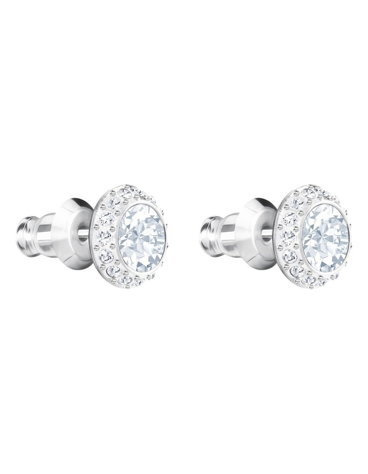 Angelic Pierced Earrings - White - Rhodium Plated image 3