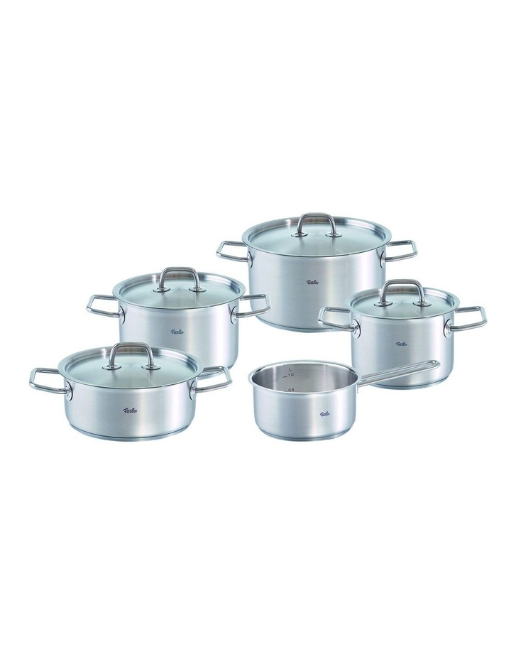 Berlin 5 piece  Stainless Steel Cookware Set With Metal Lids image 1