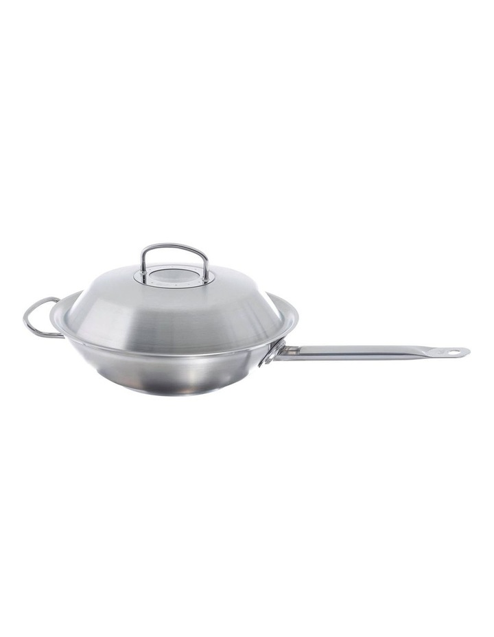 Original Profi Collection 30cm Wok with Stainless Steel Lid & Long Handle image 1