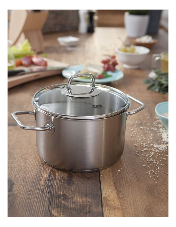 Viseo 20cm/3.6L Stainless Steel Stewpot With Glass Lid image 2