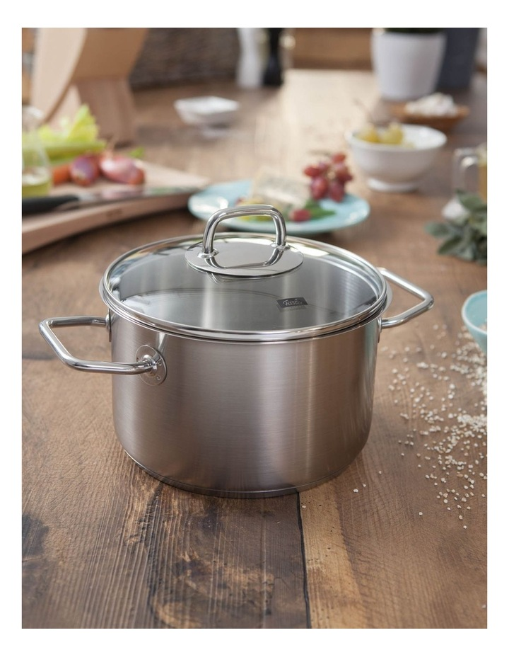 Viseo 20cm/2.4L Stainless Steel Casserole With Glass Lid image 2